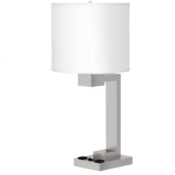 Truly Yours Single Table Lamp with 2 Outlets
