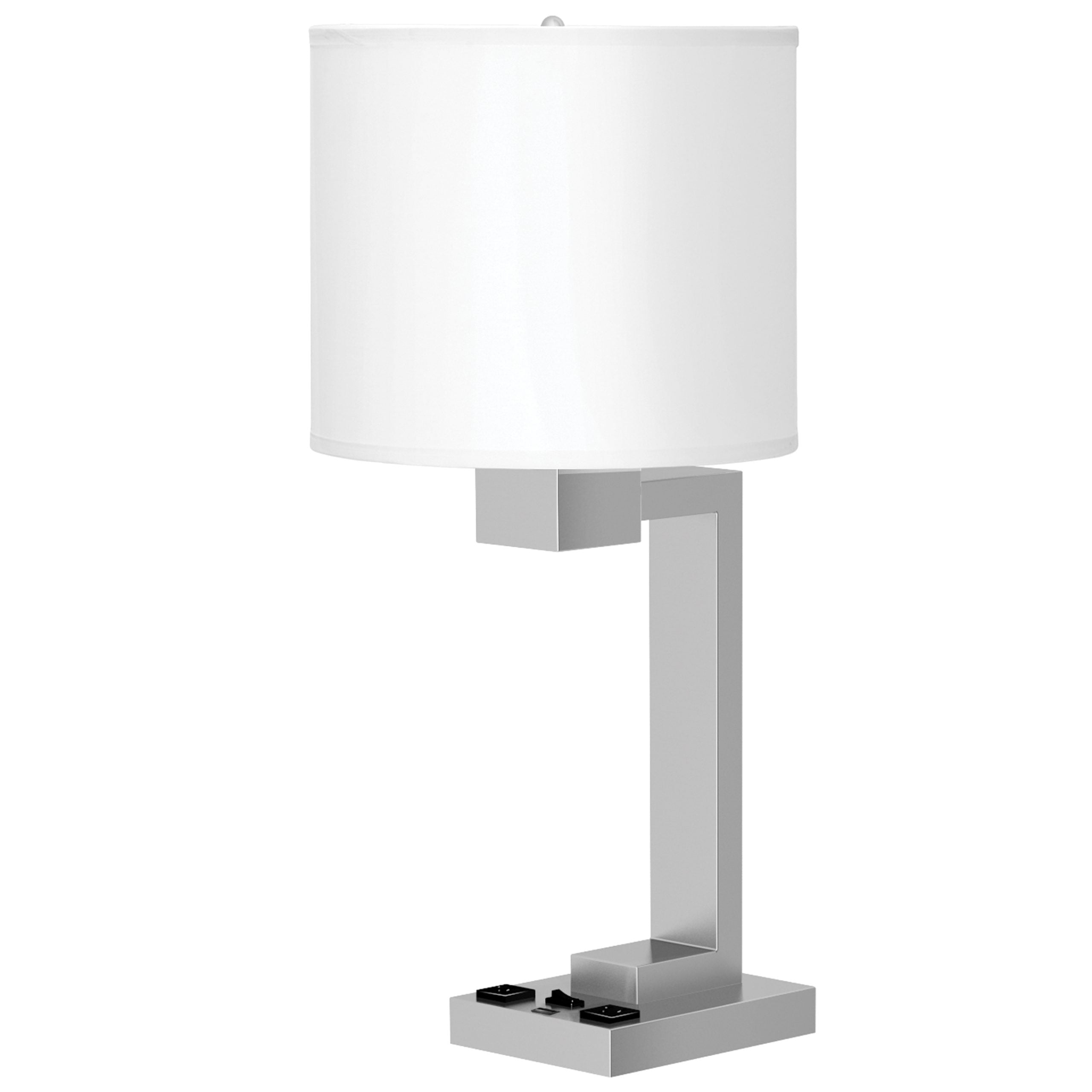 Truly Yours Single Table Lamp with 2 Outlets & 1 USB