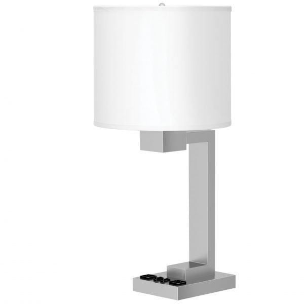 Truly Yours Twin Table Lamp with 2 Outlets