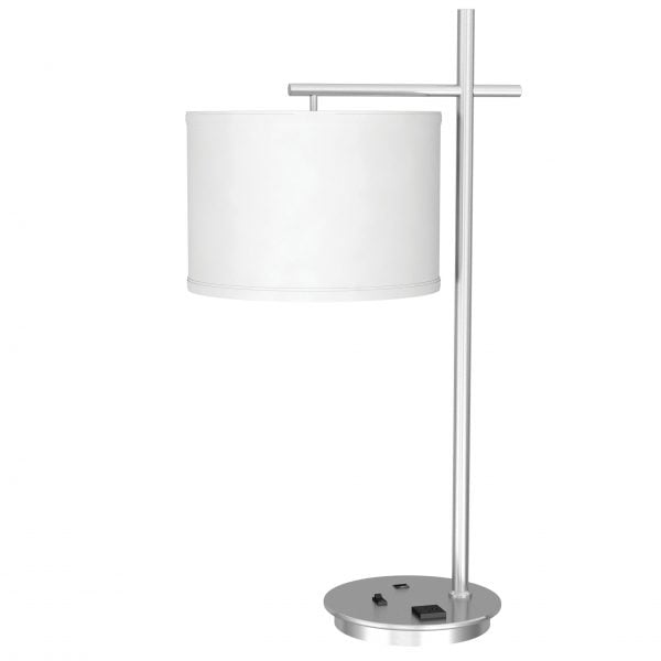 Single Table Lamp with 1 Outlet & 1 USB