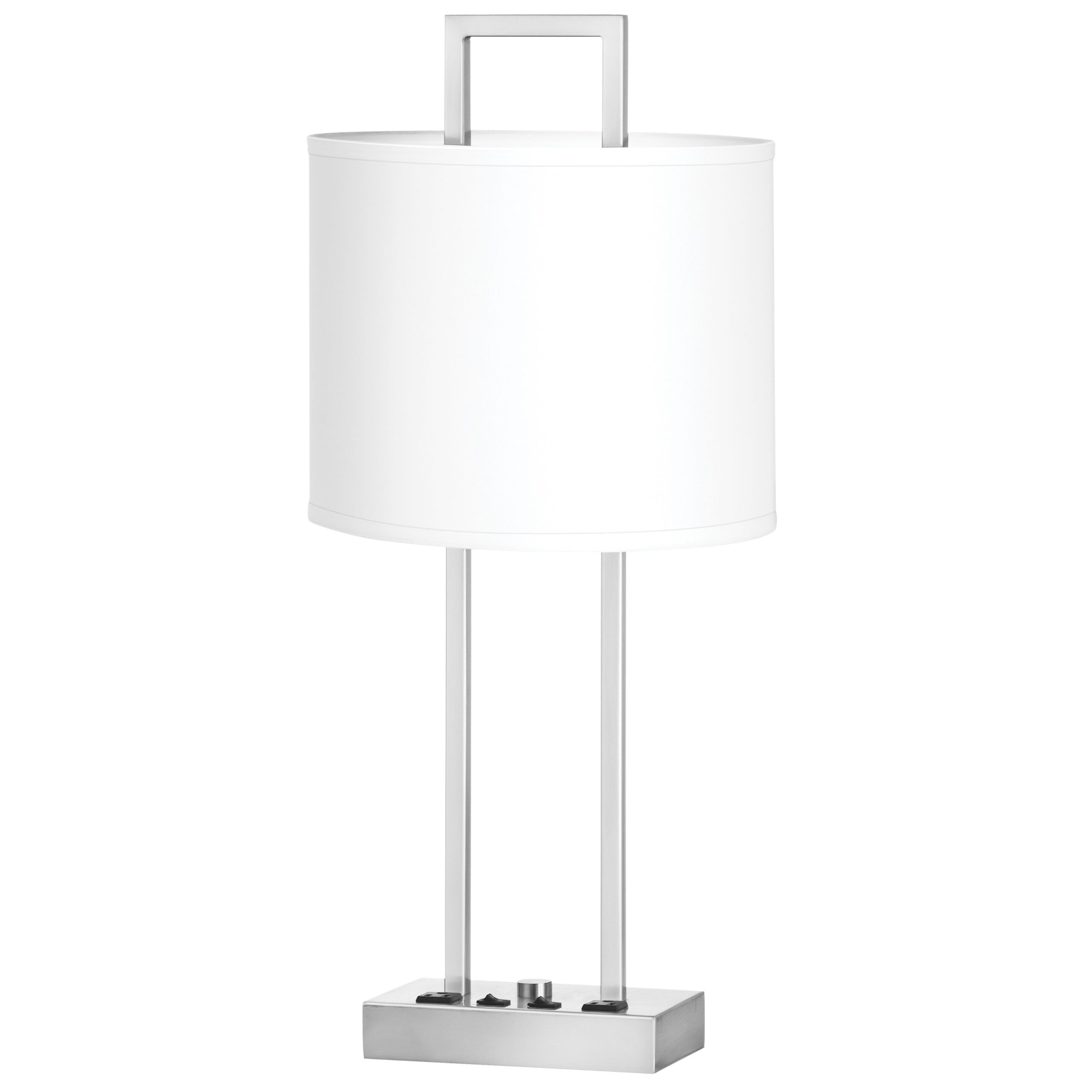 Prestige Twin Table Lamp with 2 Outlets