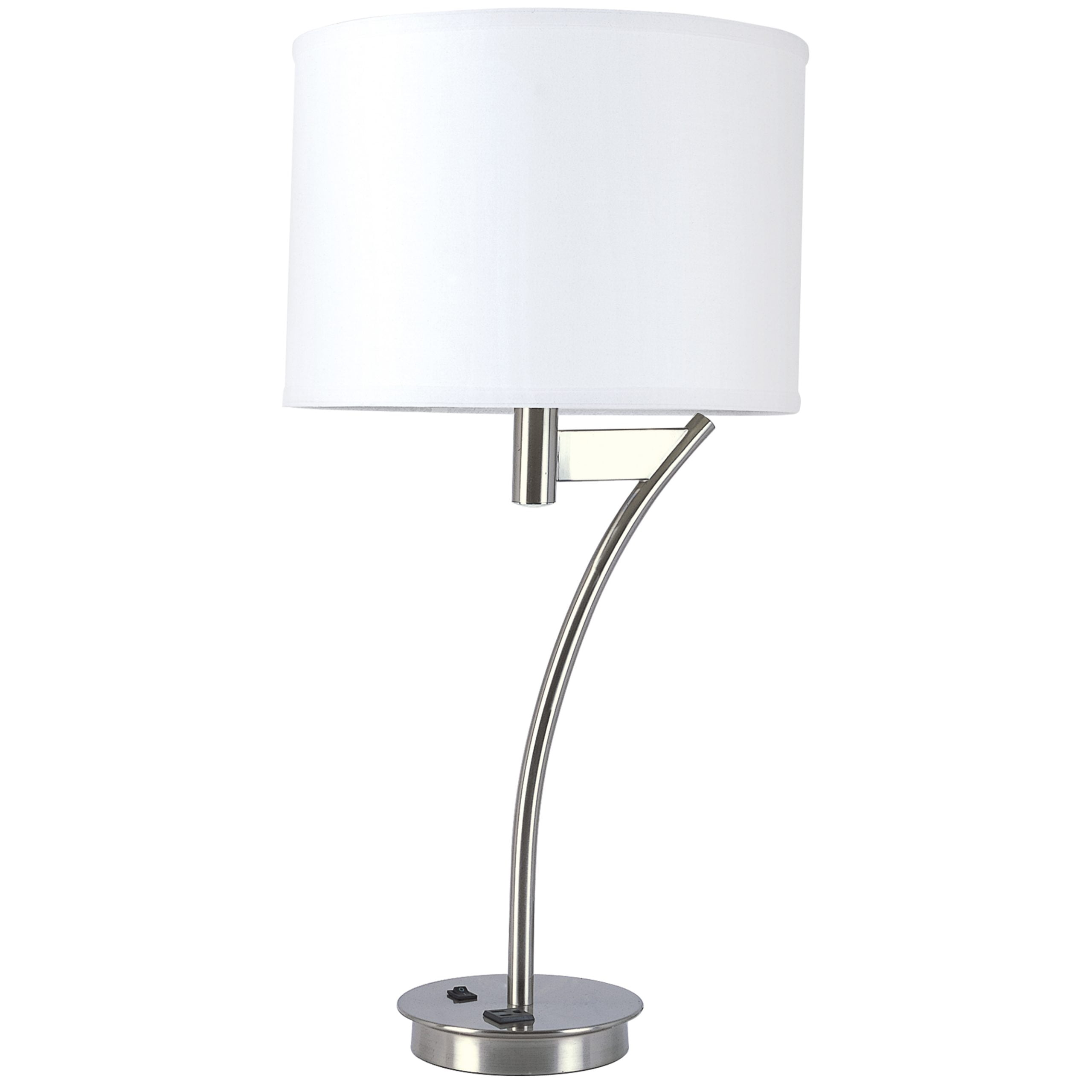 Corbel Single Table Lamp with 1 Outlet
