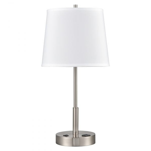 Englewood Single Table Lamp with 1 Outlet