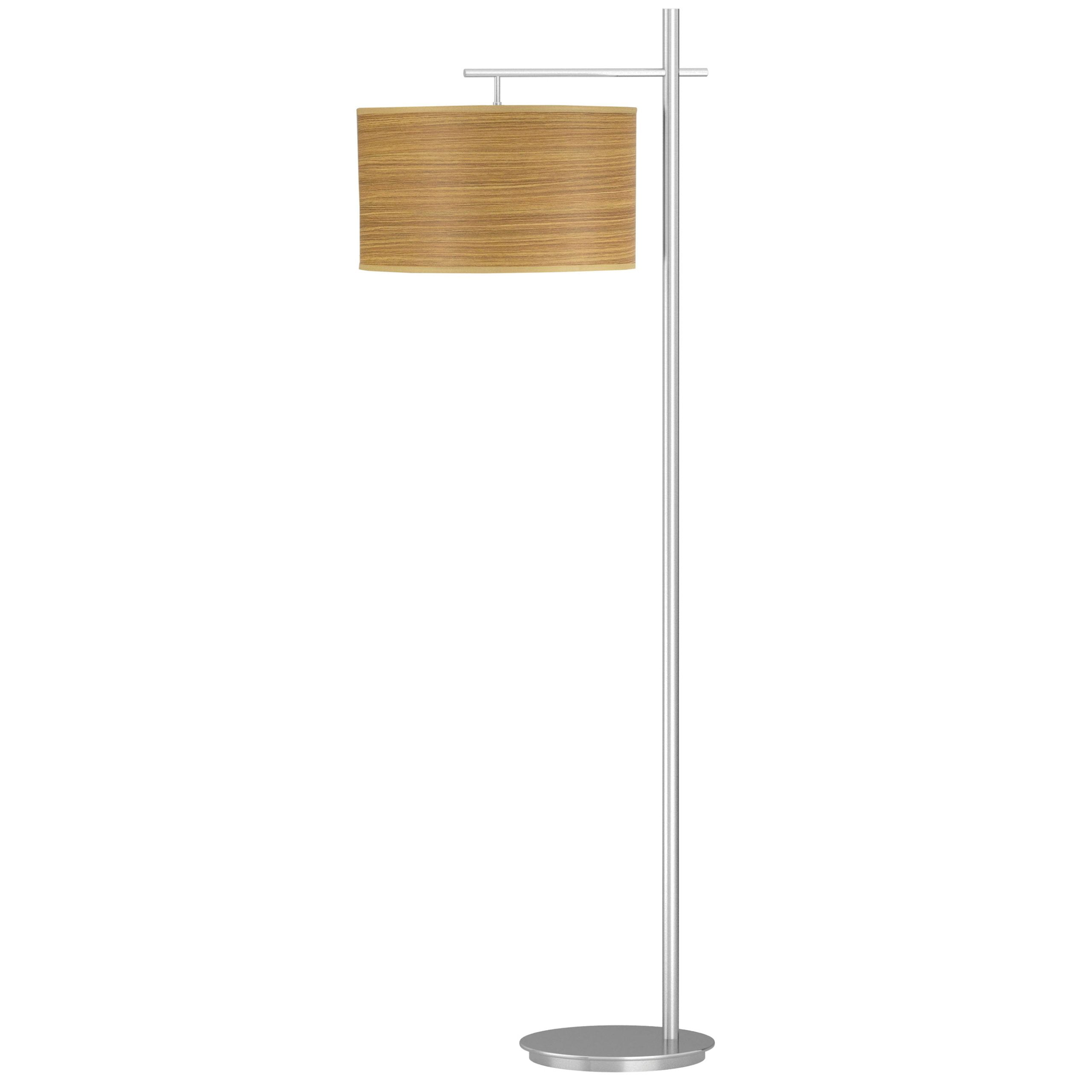 Sleep Floor Lamp with Zebrawood Shade