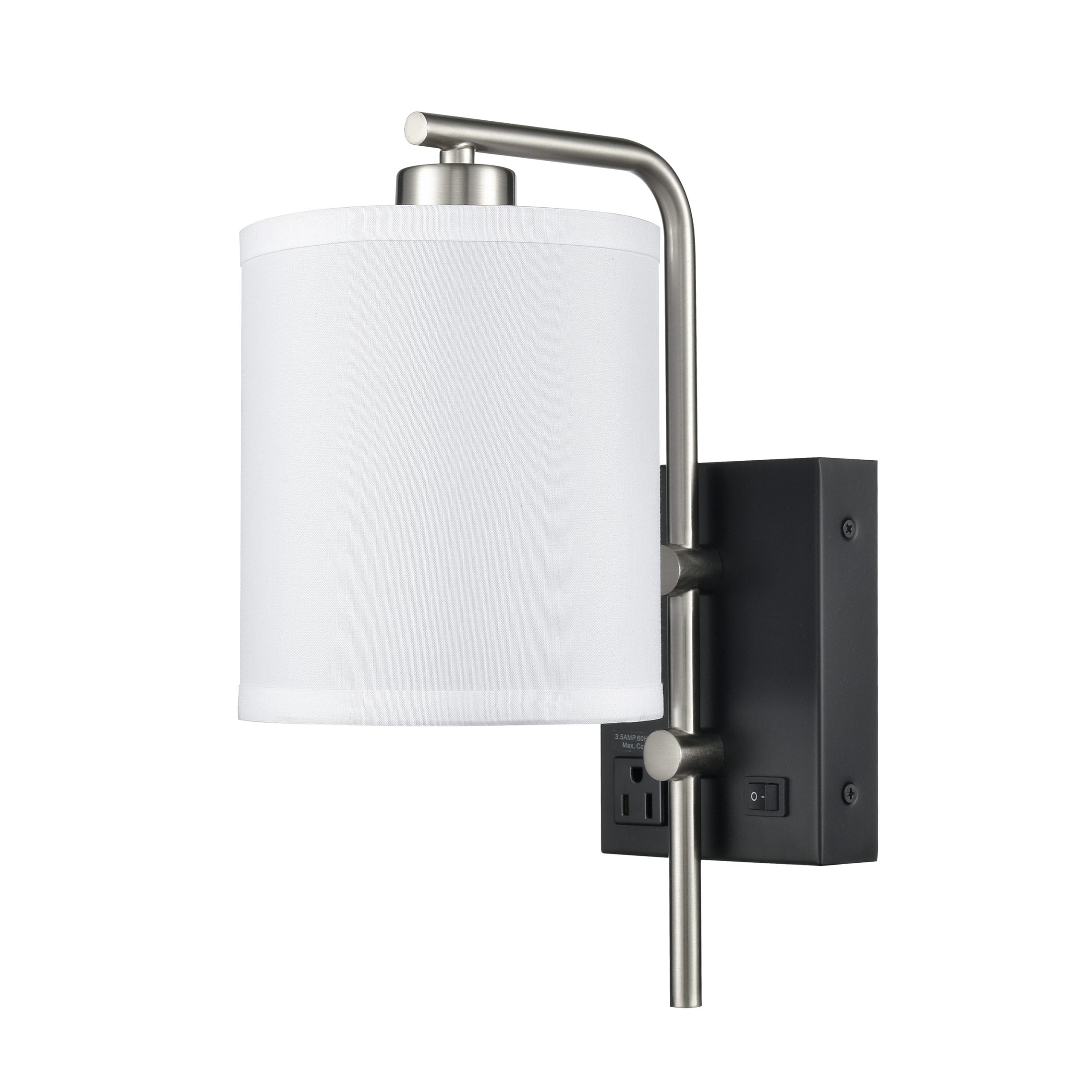 Valeria Single Wall Lamp with 1 Outlet