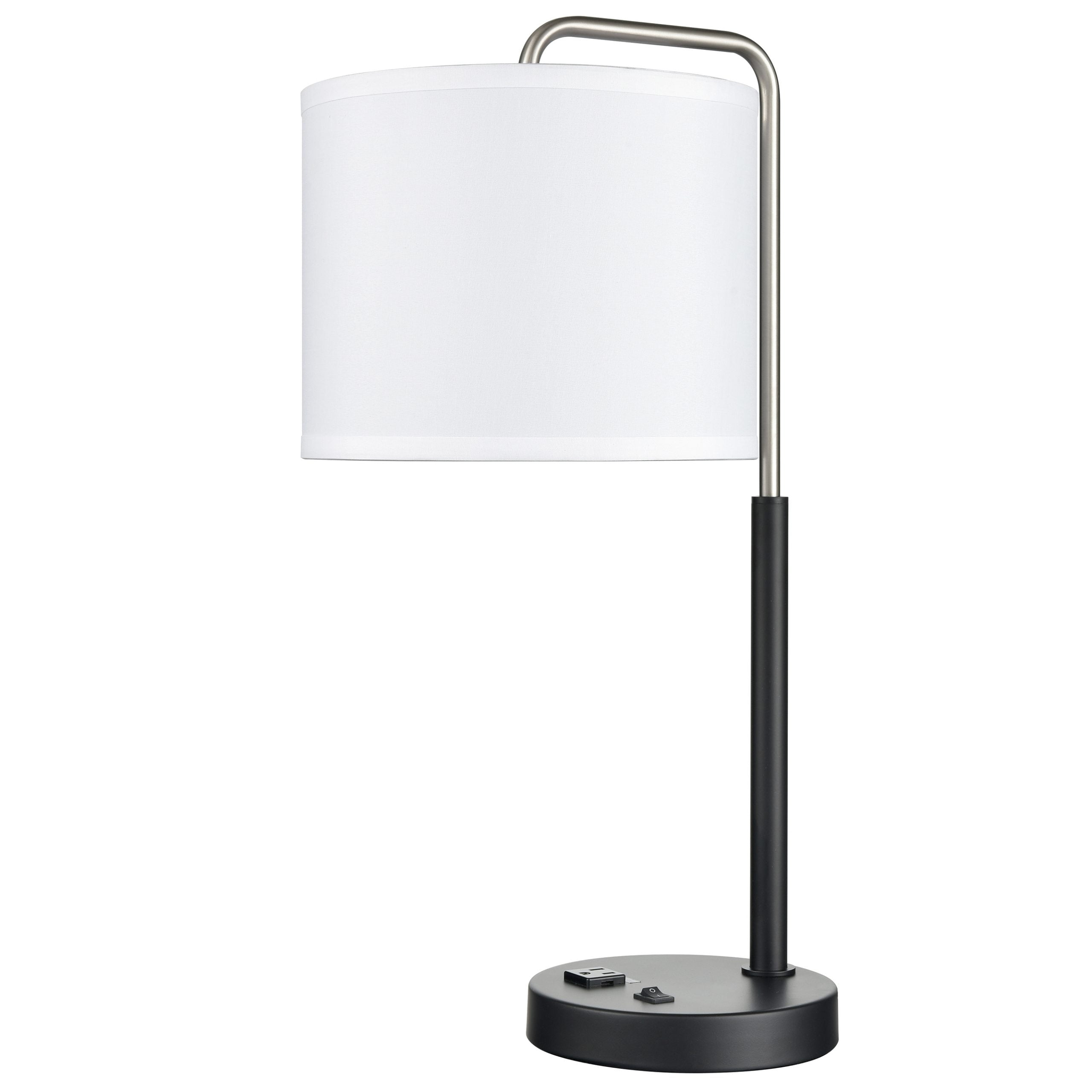 Valeria Single Table Lamp with 1 Outlet & 1 USB