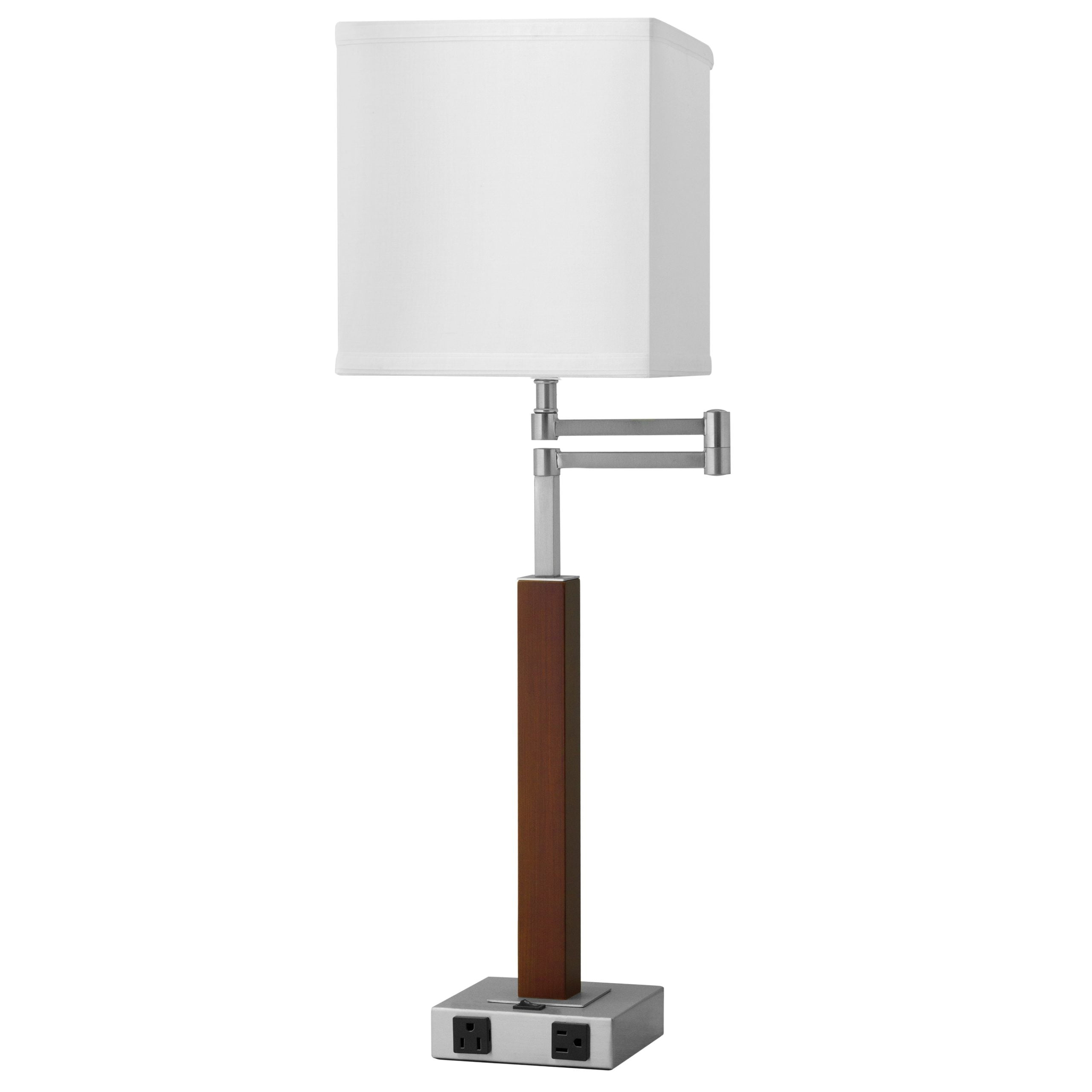Calibri Desk Lamp with 2 Outlets