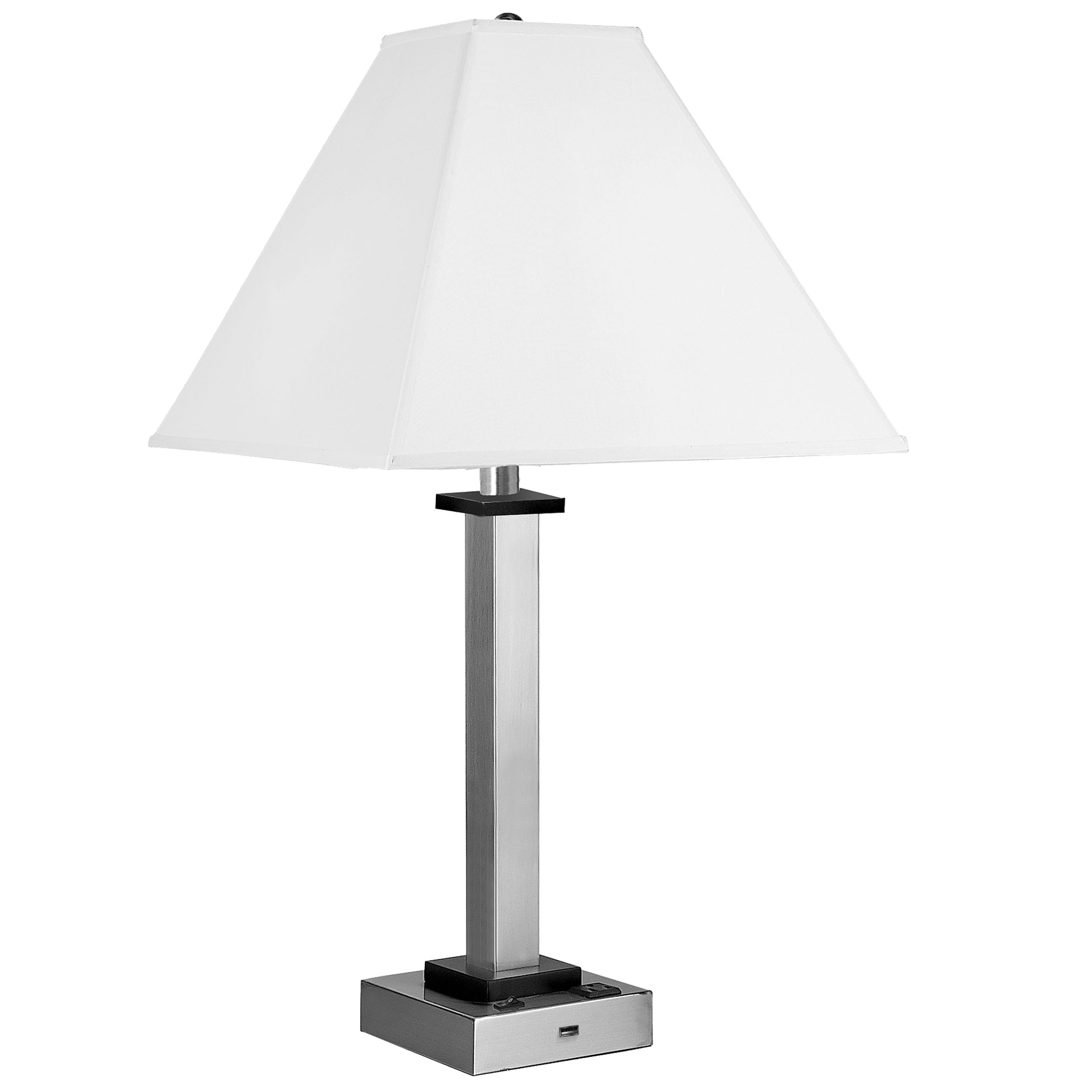 Andaaz Single Table Lamp with 1 Outlet & 1 USB