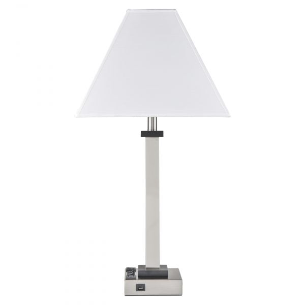 Andaaz Twin Table Lamp with 2 Outlets & 1 USB