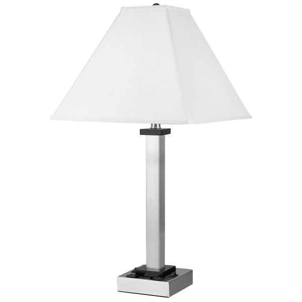 Andaaz Twin Table Lamp with 2 Outlets