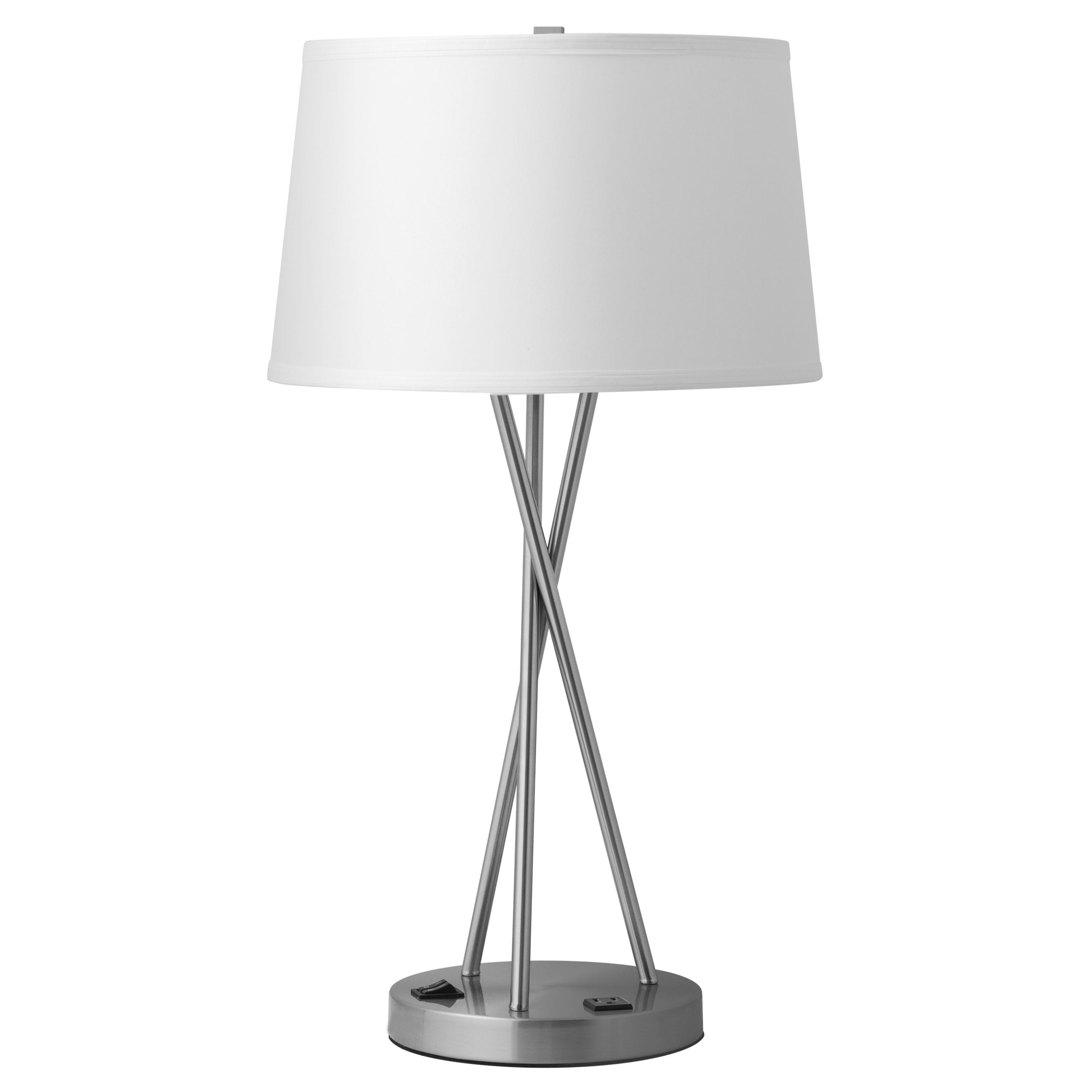 Breeze Single Table Lamp with 1 Outlet