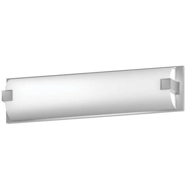 "26""W Satin Nickel Vanity Light with Frosted Acrylic Shade"