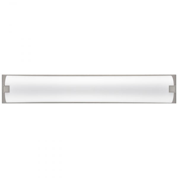 """38""""W Satin Nickel Vanity Light with Frosted Acrylic Shade"""