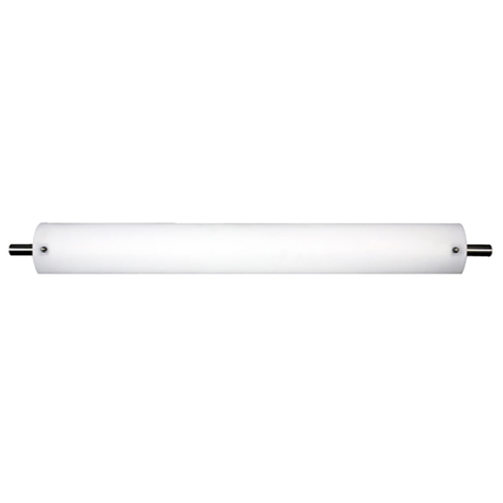 "54""W Satin Nickel Vanity Light with Frosted Acrylic Shade"