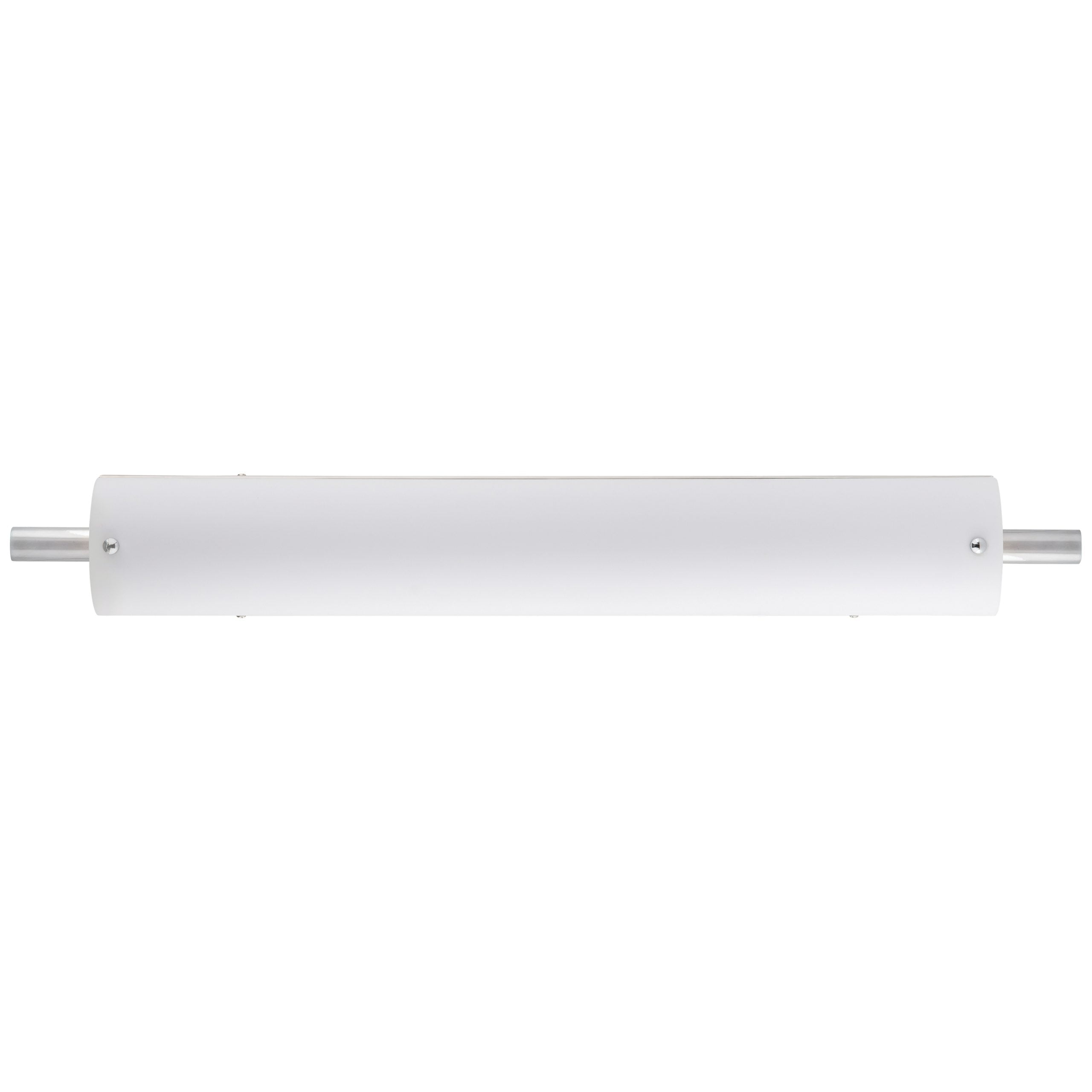 "30""W Polished Chrome Vanity Light with Frosted Acrylic Shade & Integrated LED"