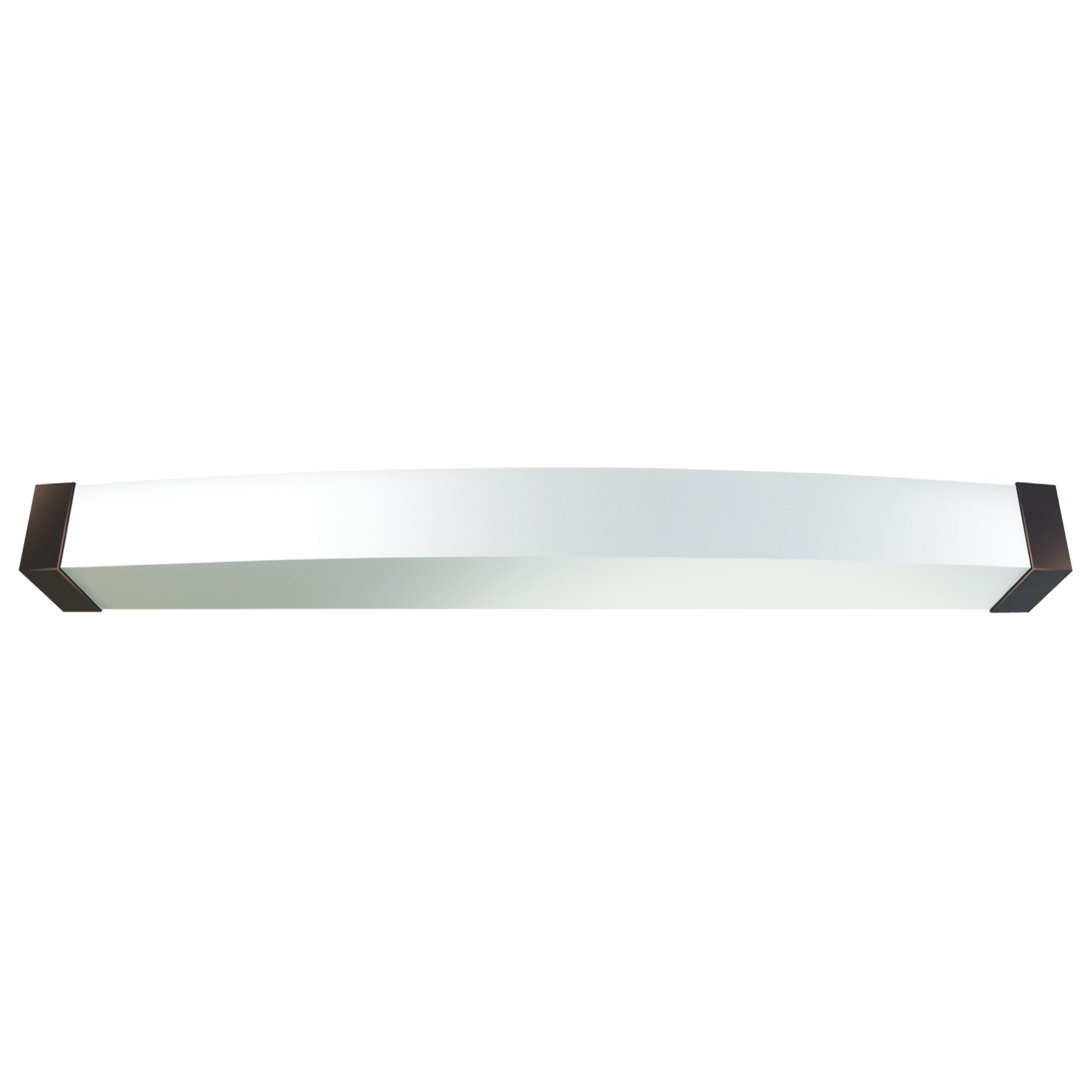 "49""W Dark Bronze Vanity Light with Frosted Acrylic Shade"
