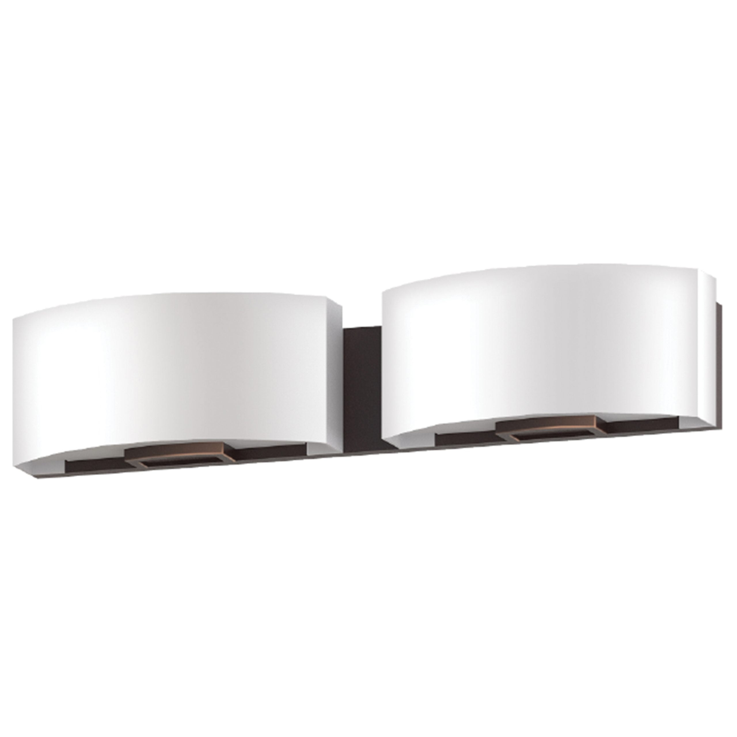 """24""""W Dark Bronze Vanity Light with Frosted Acrylic Shade"""