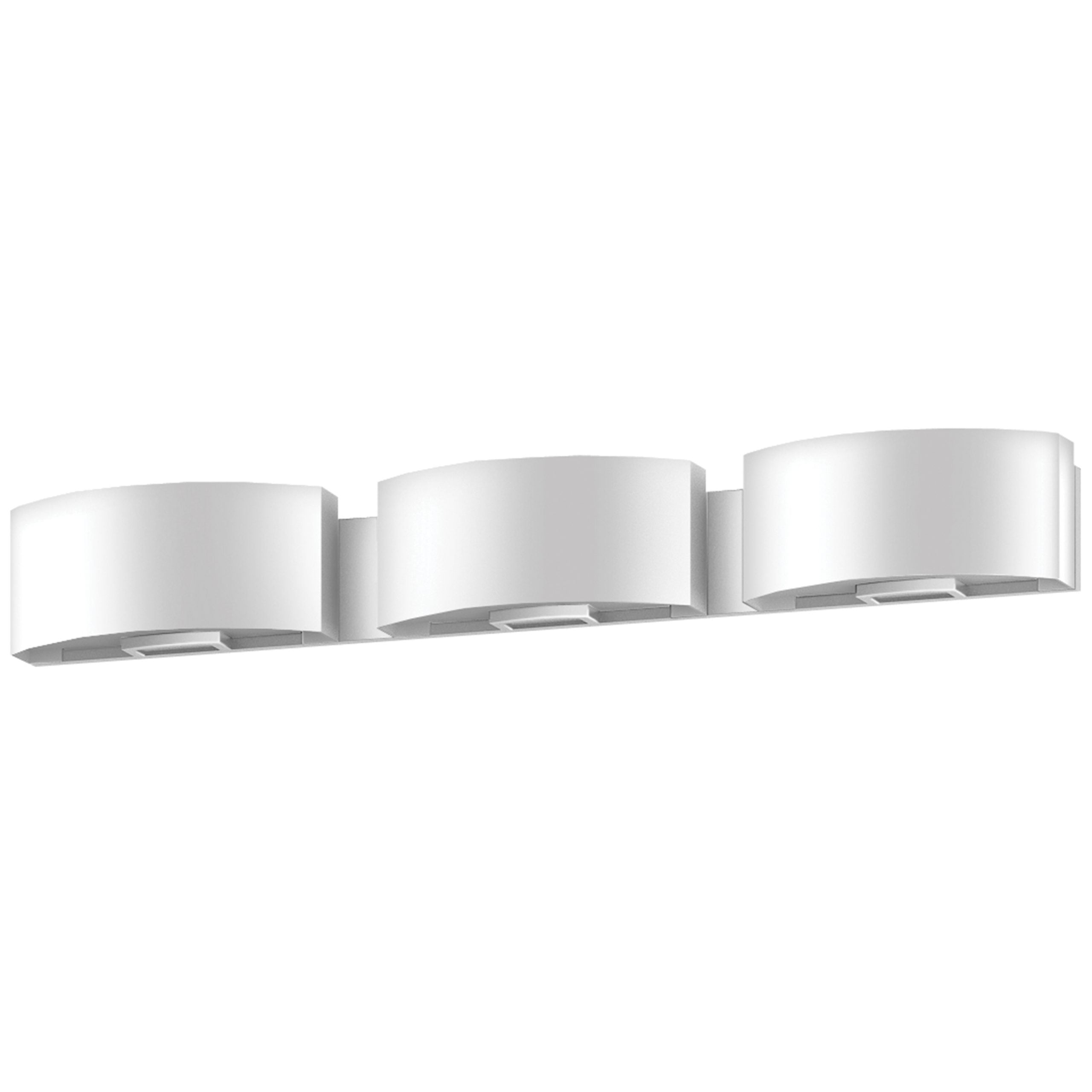 "37""W Satin Nickel Vanity Light with Frosted Acrylic Shade"