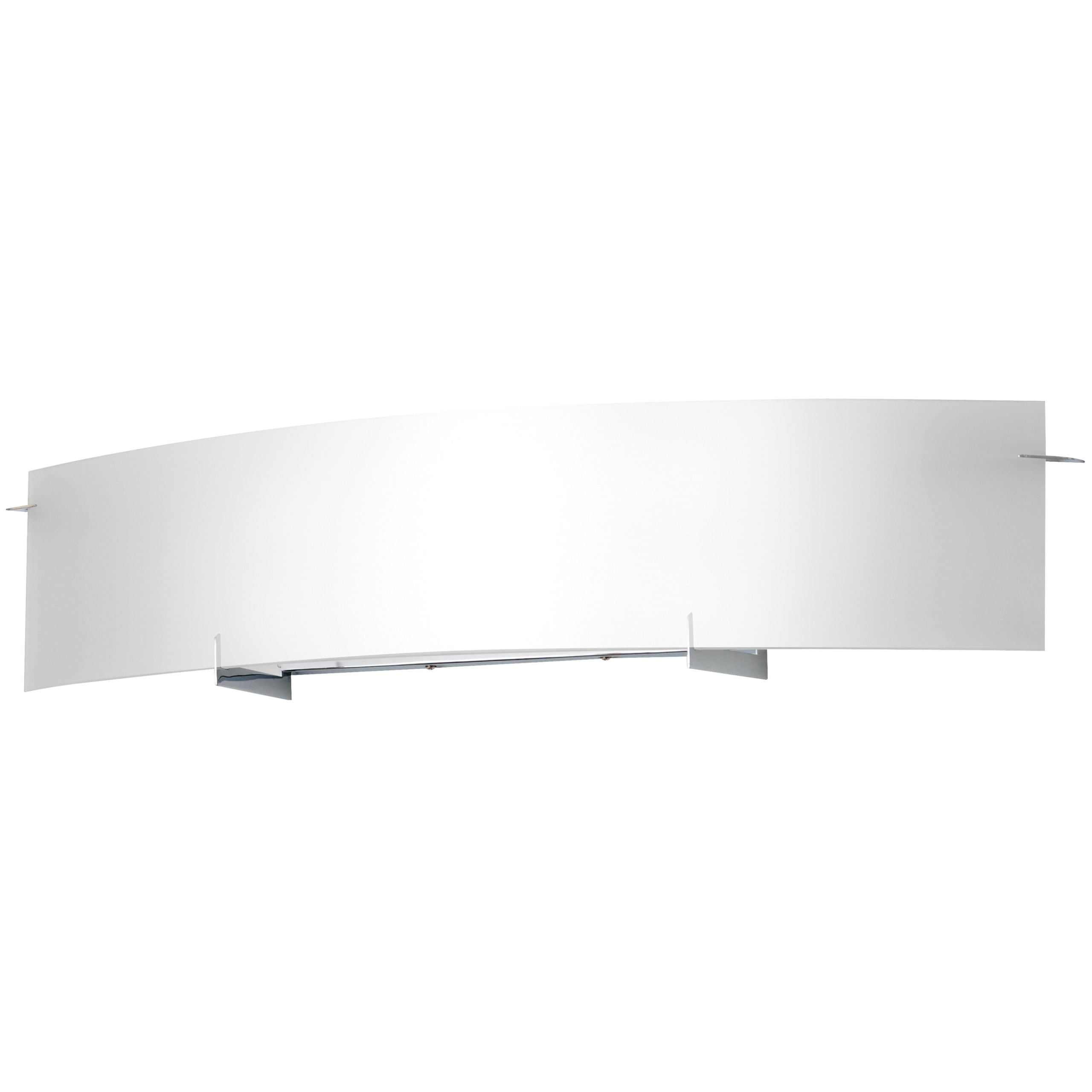 "34""W Polished Chrome Vanity Light with Frosted Glass Shade"