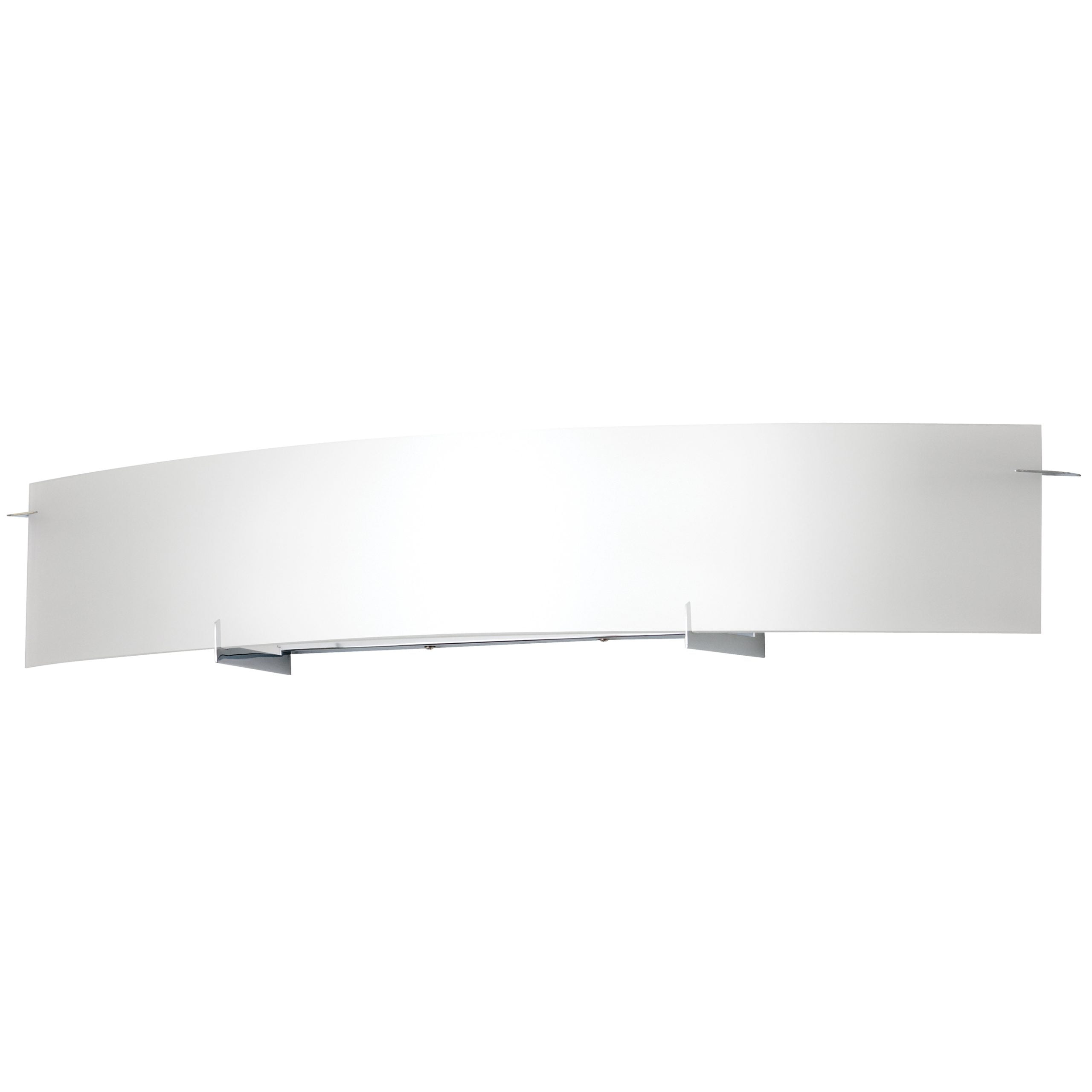 "42""W Polished Chrome Vanity Light with Frosted Glass Shade"
