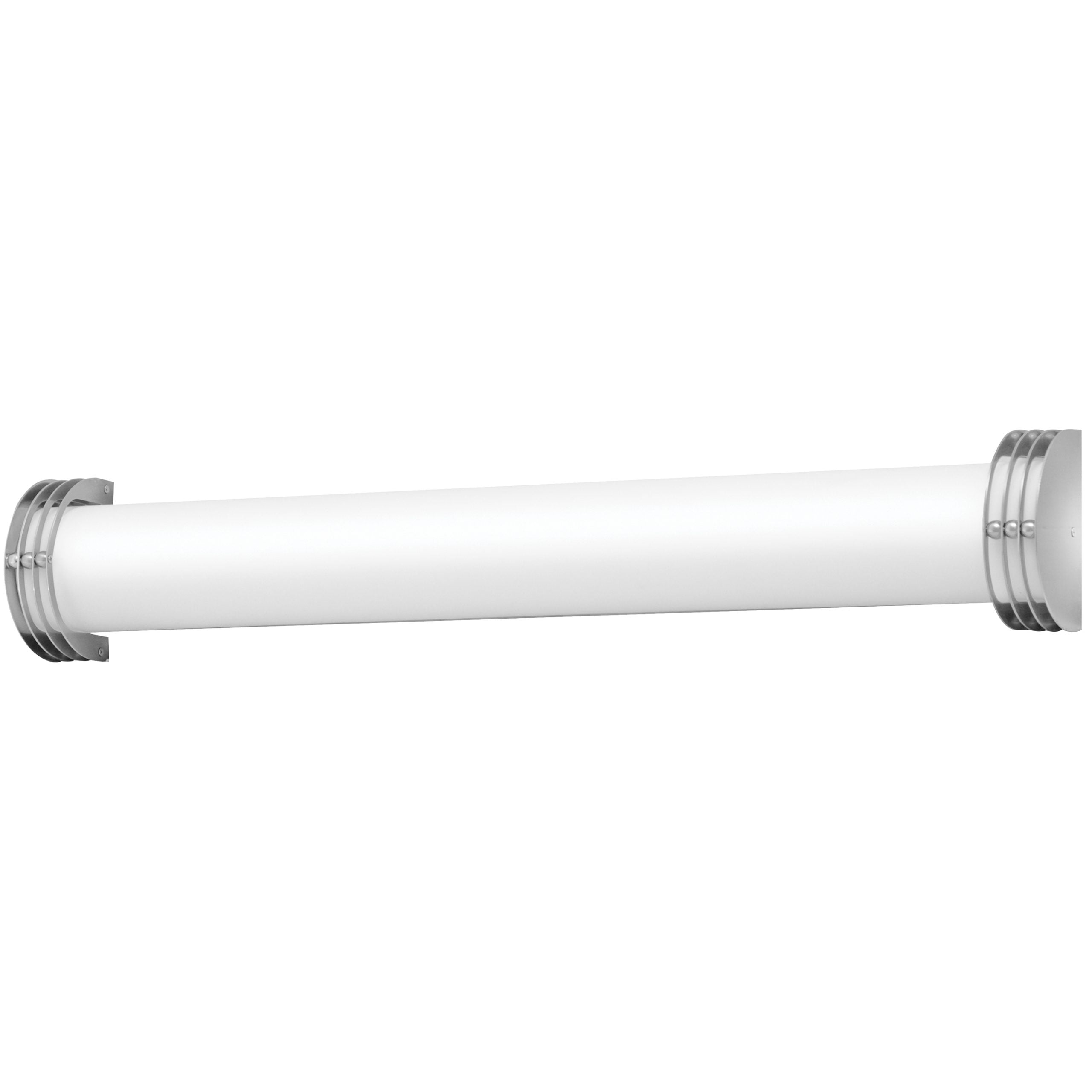 "36""W Brushed Nickel Vanity Light with Frosted Acrylic Shade"
