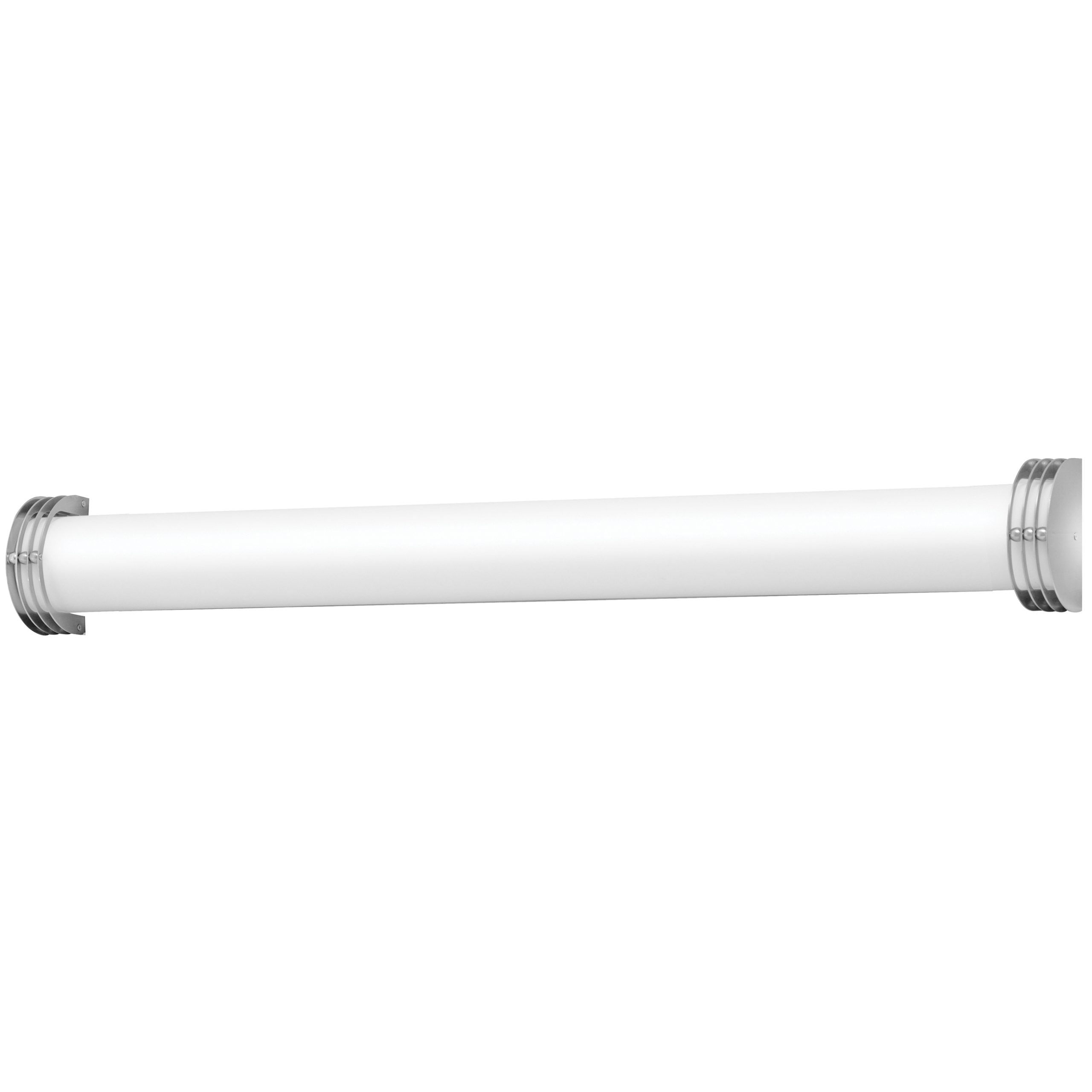 "48""W Brushed Nickel Vanity Light with Frosted Acrylic Shade"