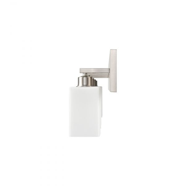 """37""""W Brushed Nickel Vanity Light with Frosted Acrylic Shades"""