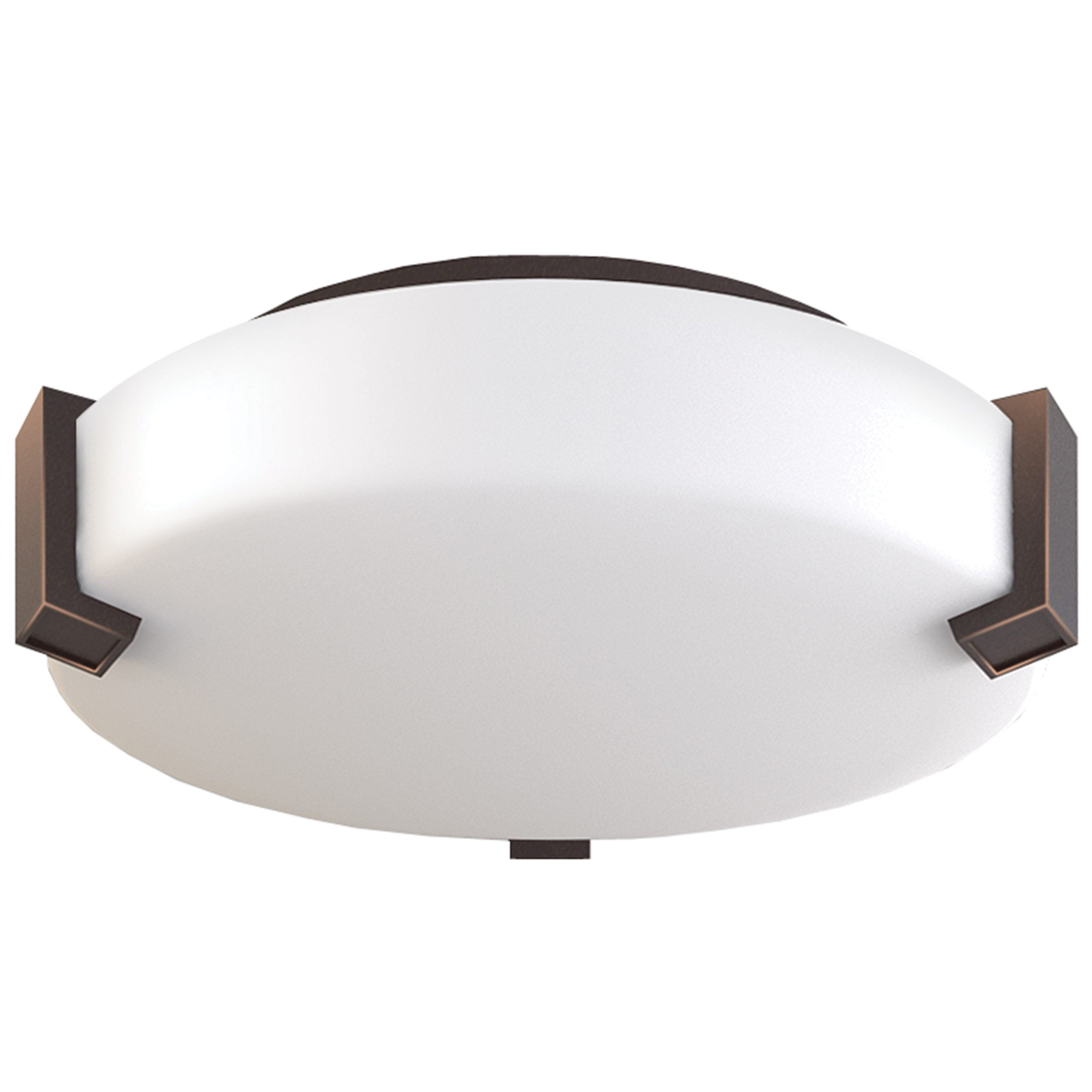 "12""W Dark Bronze Ceiling Light with Frosted Acrylic Shade"