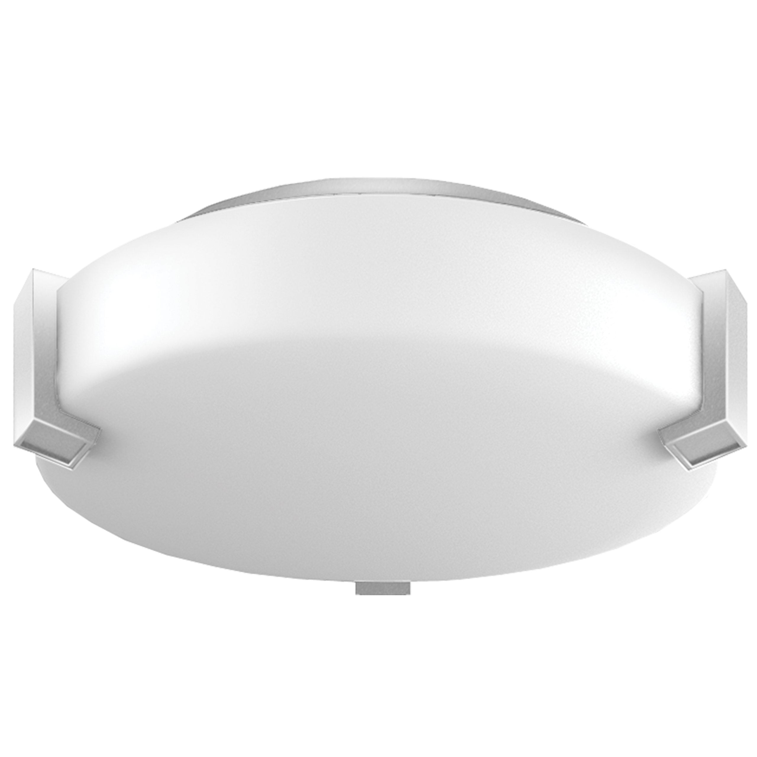 "12""W Satin Nickel Ceiling Light with Frosted Acrylic Shade"