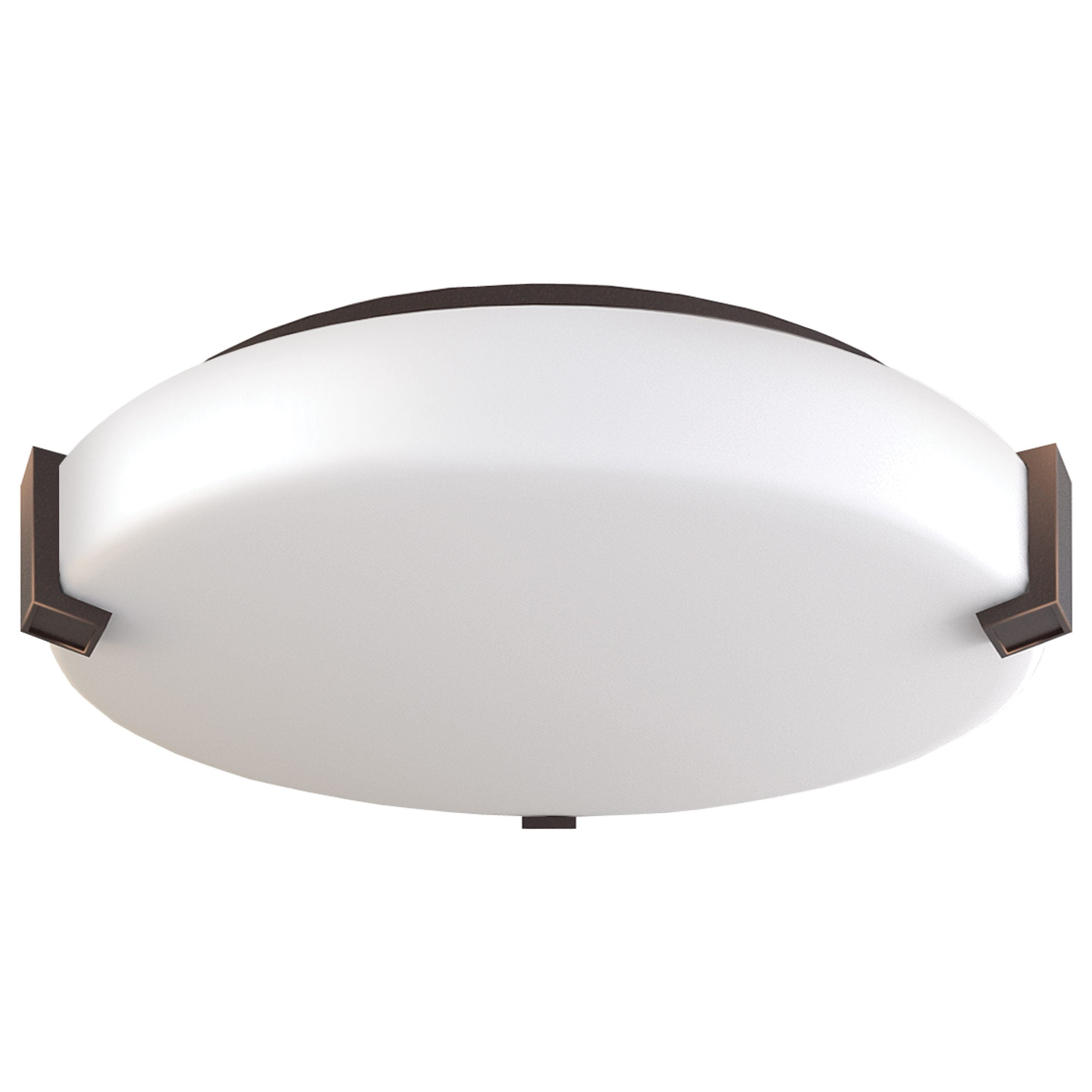 "16""W Dark Bronze Ceiling Light with Frosted Acrylic Shade"