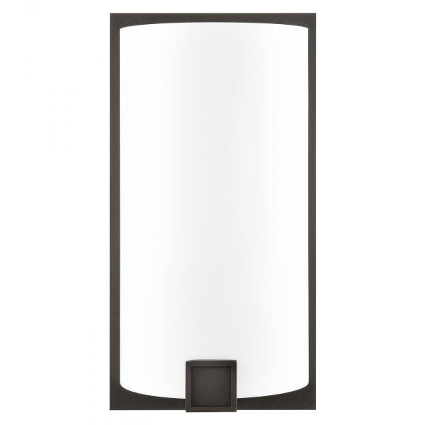 "12""H Dark Bronze Wall Sconce with Frosted Acrylic Shade"