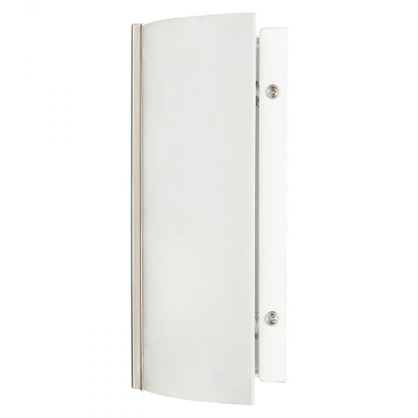 """8.5""""H Brushed Nickel Wall Sconce with Frosted Glass Shade"""