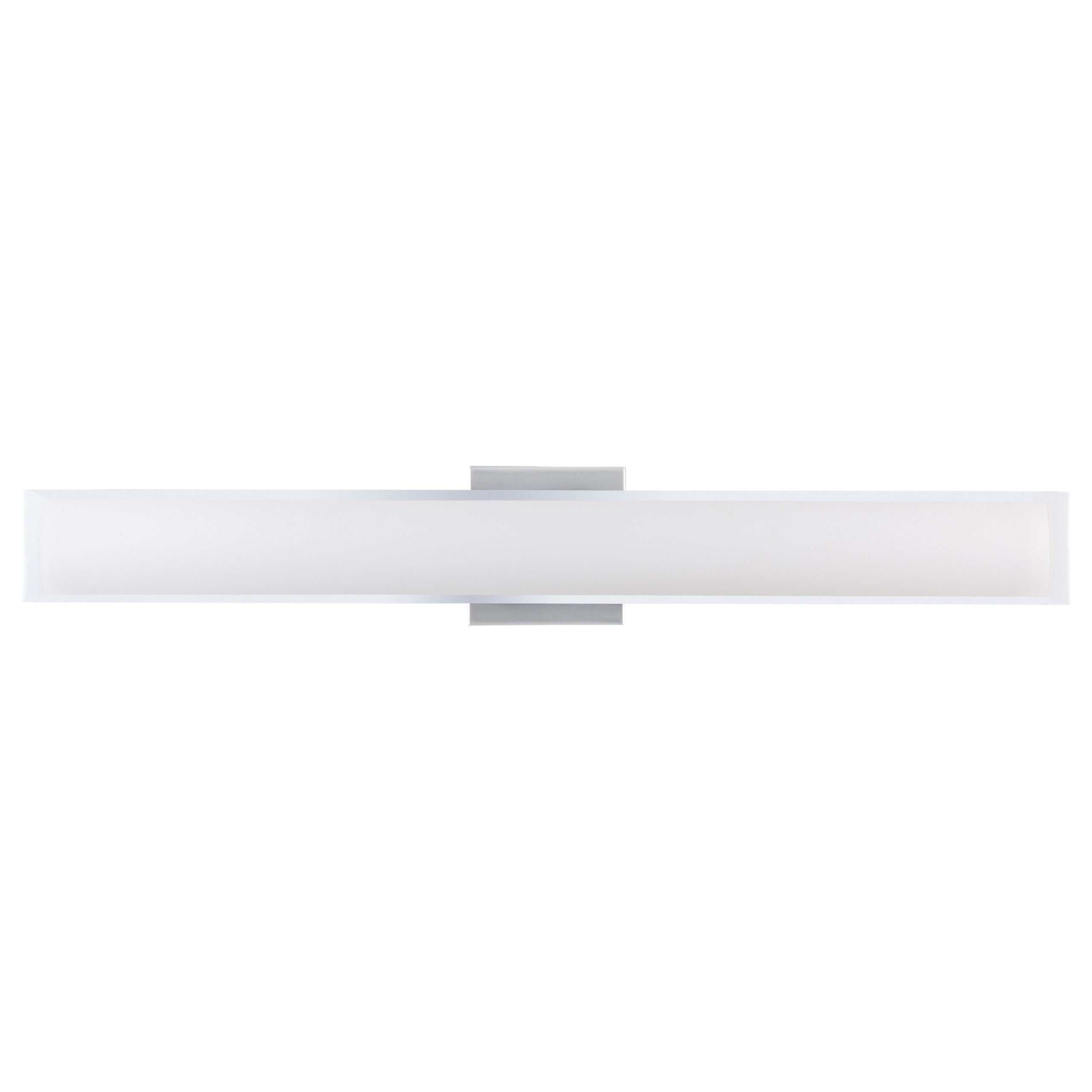 "30""W Polished Chrome Vanity Light with Frosted Glass Shade & Integrated LED"