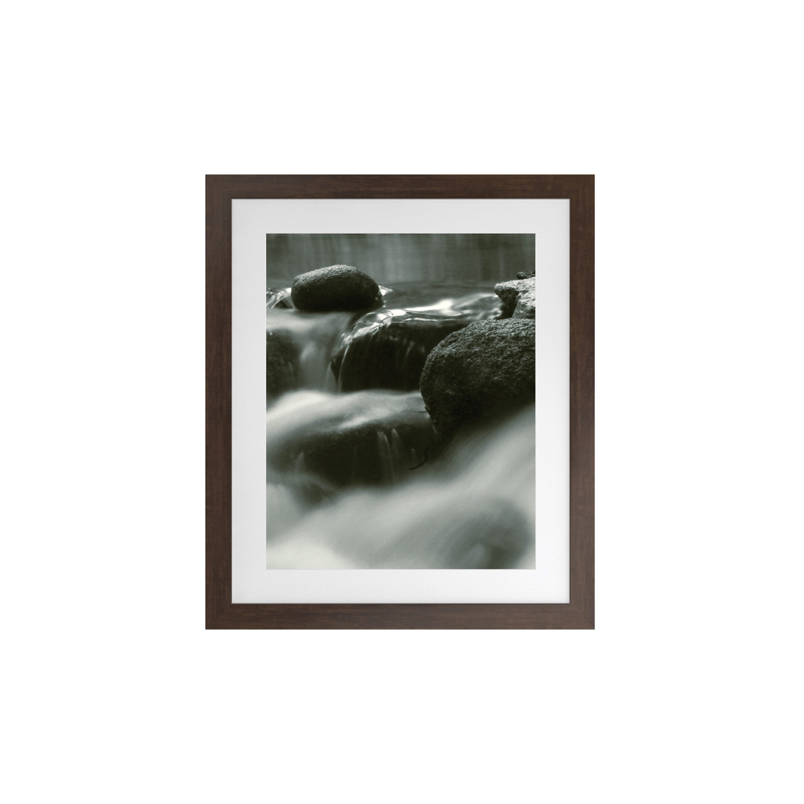 Terra Artwork with Ipe Brown Frame