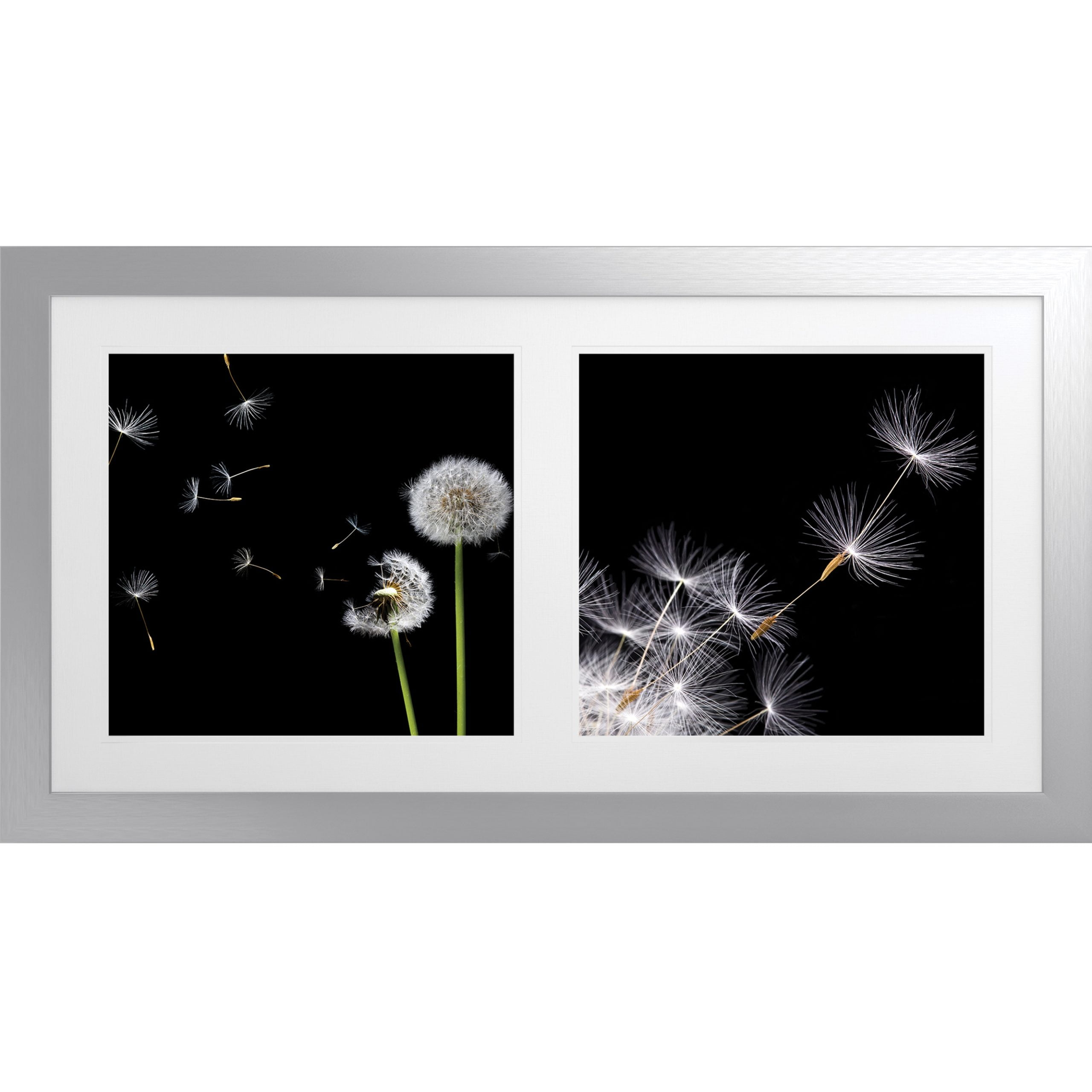 Wisp Artwork with Fornari Silver Frame