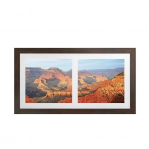 Vistas Artwork with Ipe Brown Frame
