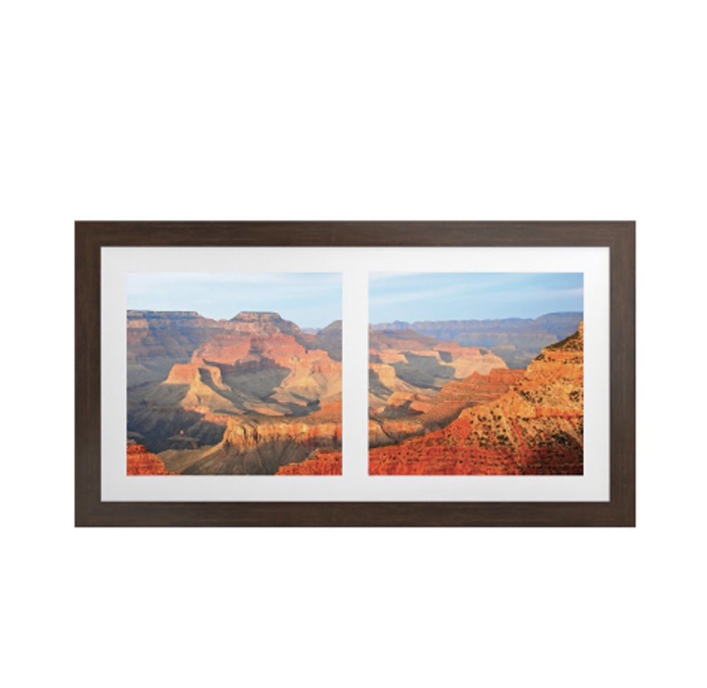 Vistas Artwork with Ipe Brown Frame