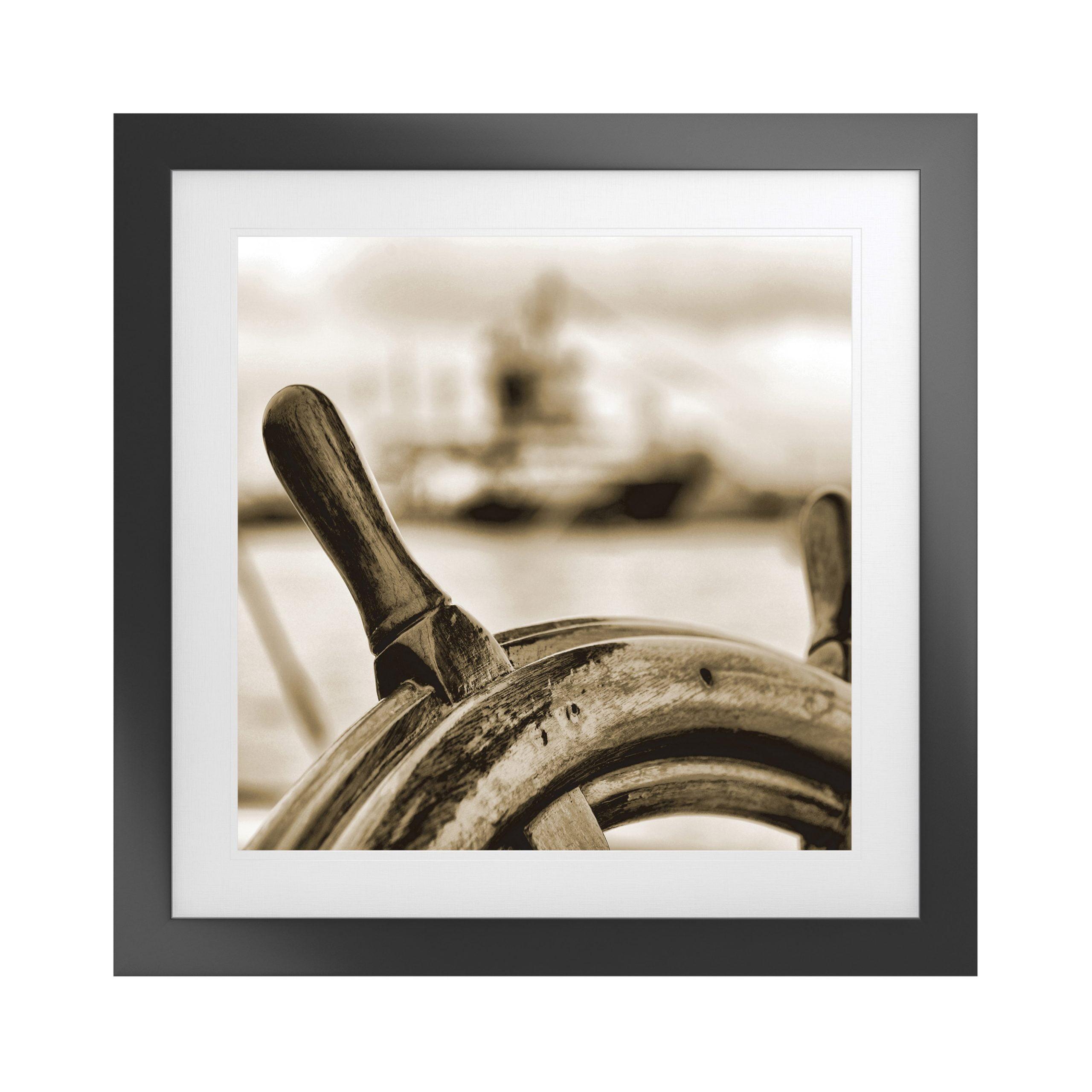 Nautical Artwork with Fornari Black Frame