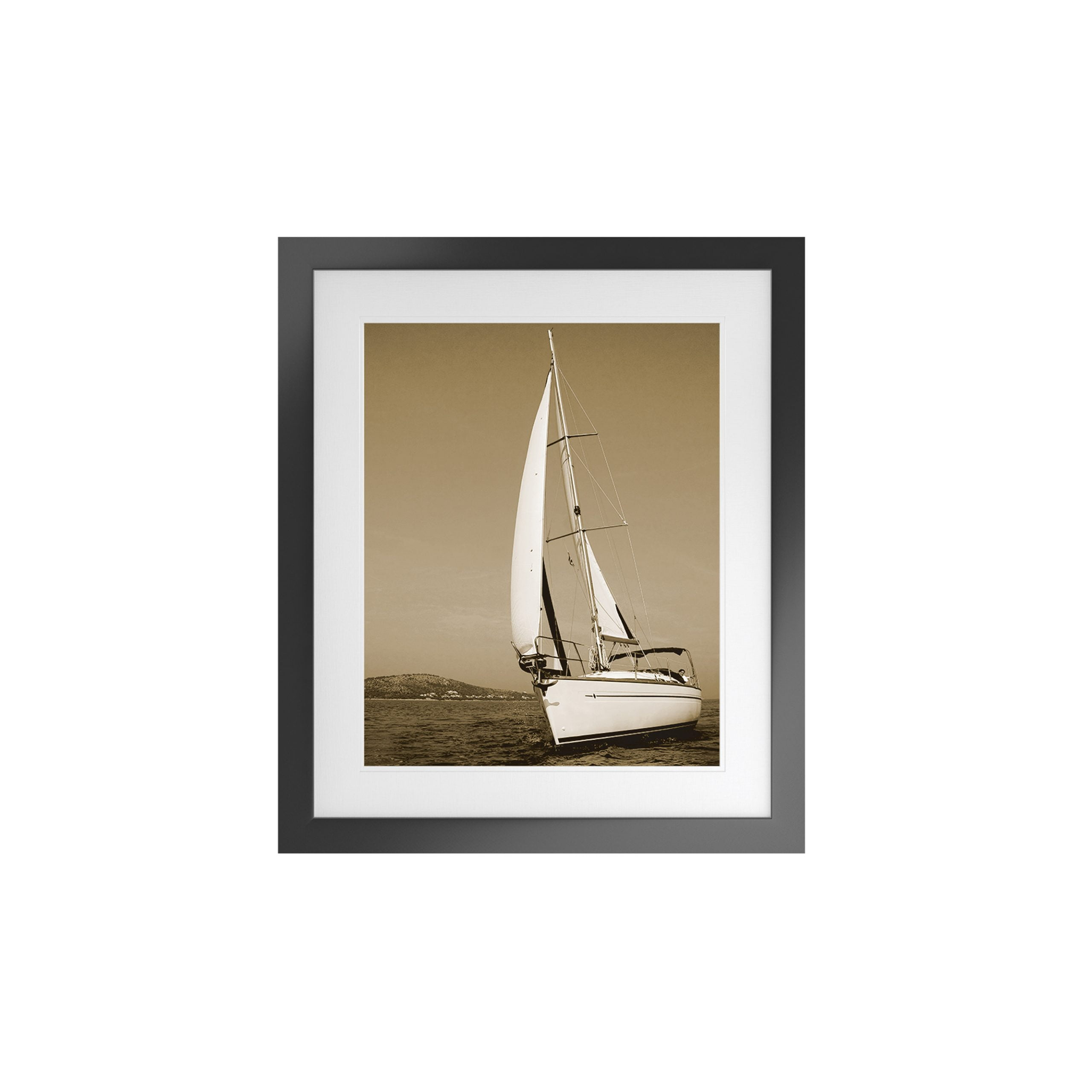 Nautical Artwork with Fornari Black Frame