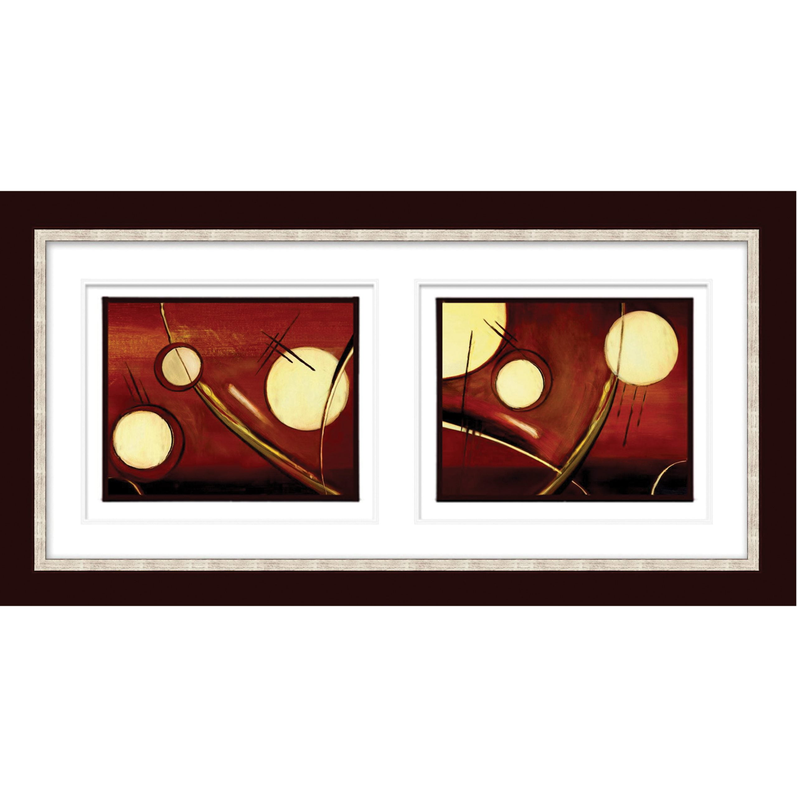 Glowing Circles Artwork with Calisto Frame