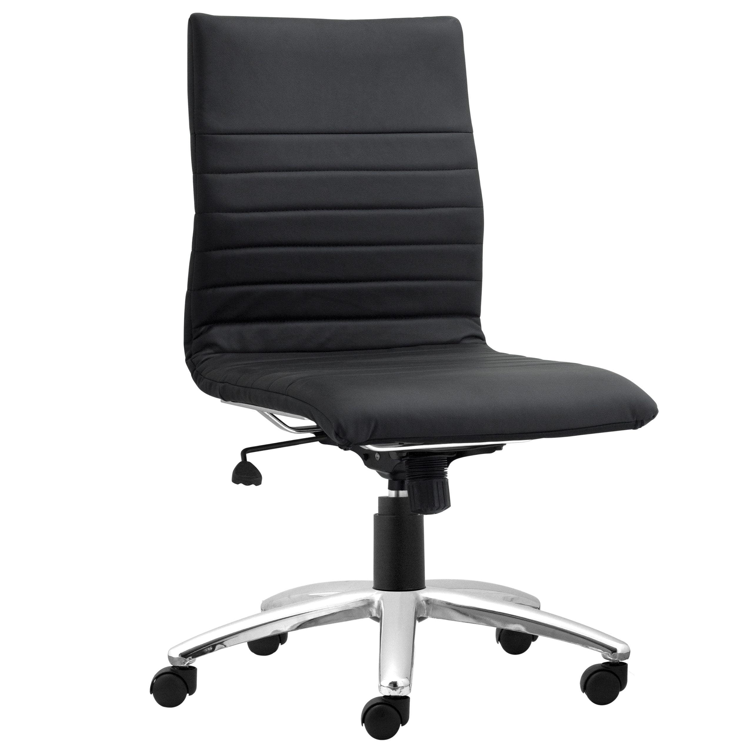 Modena Armless Task Chair - Black